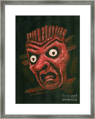 Fright Framed Print by Suzette Broad