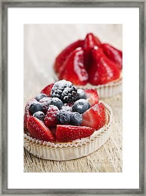Fruit Tarts Framed Print by Elena Elisseeva