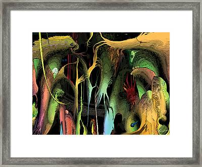 Framed Print featuring the digital art Funhouse by David Klaboe