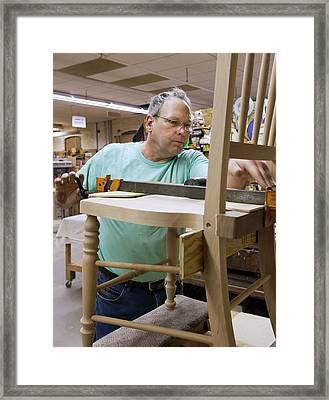 Furniture Crafts Manufacturing Framed Print by Jim West