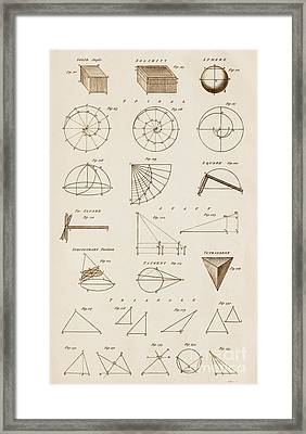 Geometrical Constructions And Principles Framed Print