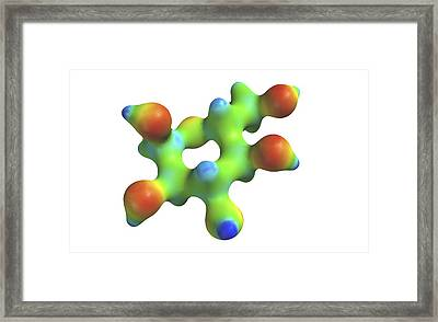 Glucose Molecule Framed Print by Alfred Pasieka