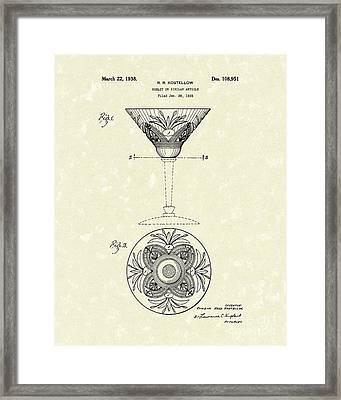 Goblet 1938 Patent Art Framed Print by Prior Art Design