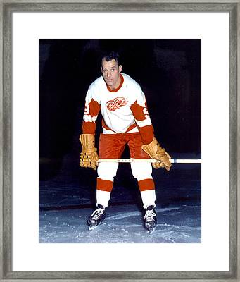 Gordie Howe Framed Print by Retro Images Archive