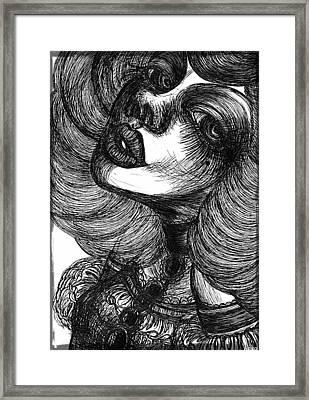 Gothic Lady Framed Print by Akiko Okabe