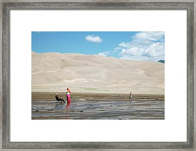 Great Sand Dunes National Park Framed Print by Jim West