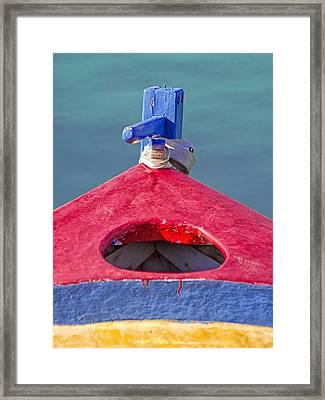 Greek Fishing Boat Framed Print by Stelios Kleanthous