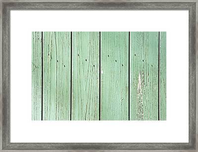 Green Wood Framed Print by Tom Gowanlock