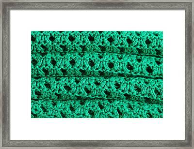 Green Wool Framed Print