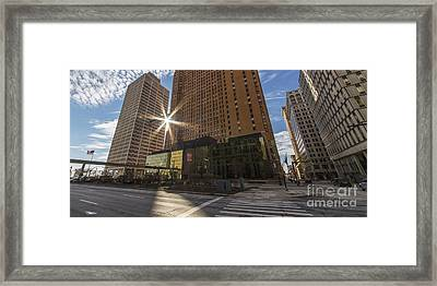 Guardian And One Woodward Avenue Buildings Framed Print by Twenty Two North Photography
