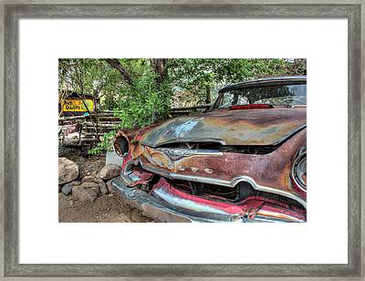 Hackberry General Store On Route 66 Framed Print by Lynn Jordan