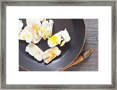 Halloumi Cheese Framed Print by Tom Gowanlock