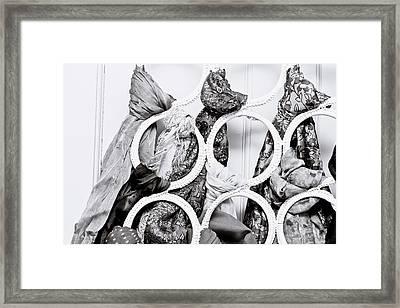 Hanging Scarfs Framed Print by Tom Gowanlock
