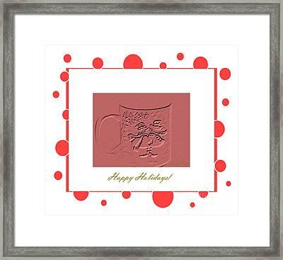 Happy Holidays Card Framed Print