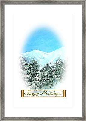 Happy Holidays. Best Christmas Gift Framed Print
