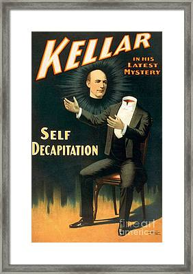 Harry Keller, American Magician Framed Print