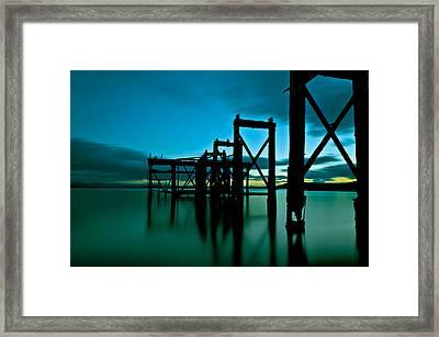 Hawcraig Pier Framed Print