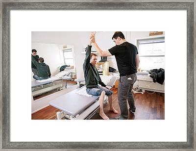 Hemiplegic Stroke Physiotherapy Framed Print