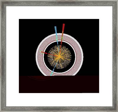 Higgs Boson Research, Atlas Detector Framed Print by Science Photo Library