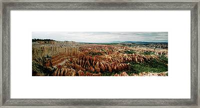 High Angle View Of Rock Formations Framed Print
