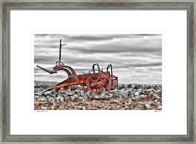 Hilltop Farm Framed Print by Richard Bean