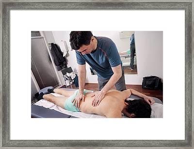 Hip Injury Physiotherapy Framed Print by Thomas Fredberg