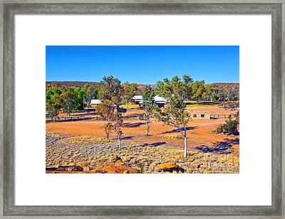 Historical Telegraph Station Alice Springs  Framed Print