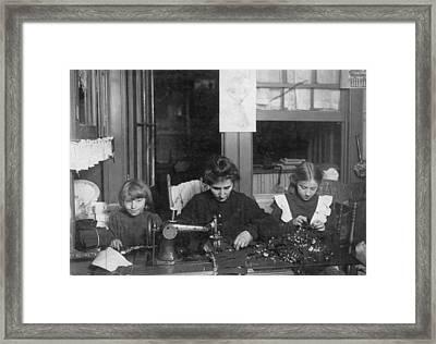 Home Industry, 1910 Framed Print by Granger
