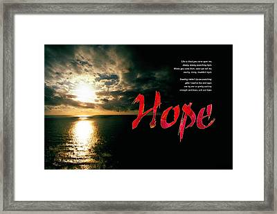 Framed Print featuring the digital art Hope by Chuck Mountain