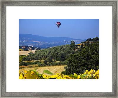 Hot Air Balloon, Italy Framed Print by Tim Holt