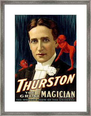 Howard Thurston, American Magician Framed Print by Photo Researchers