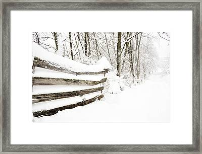 Hurricane Sandy Snow Framed Print