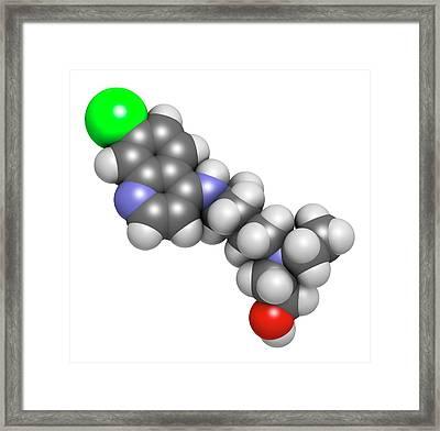 Hydroxychloroquine Malaria Drug Molecule Framed Print