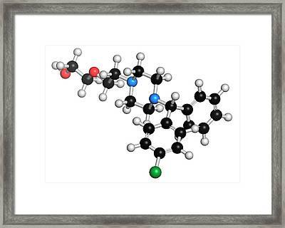 Hydroxyzine Antihistamine Drug Molecule Framed Print by Molekuul