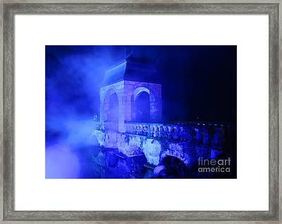 Illumina Light Show At Schloss Dyck Germany Framed Print by David Davies