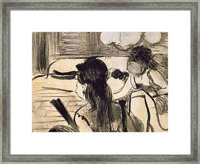 Illustration From La Maison Tellier By Guy De Maupassant Framed Print
