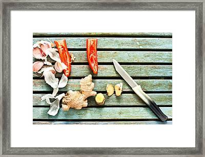 Ingredients Framed Print by Tom Gowanlock