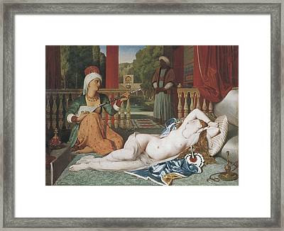 Ingres, Jean-auguste-dominique Framed Print by Everett