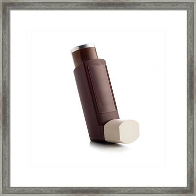 Inhaler Framed Print by Science Photo Library