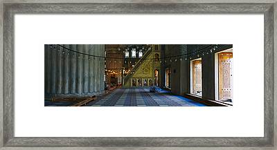 Interiors Of A Mosque, Blue Mosque Framed Print