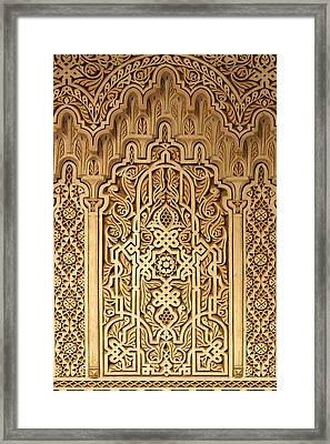 Islamic Plaster Work Framed Print by PIXELS  XPOSED Ralph A Ledergerber Photography