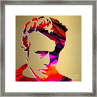 James Dean Gold Series Framed Print by Marvin Blaine