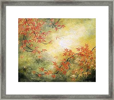 Japanese Maple Tree Framed Print by Tomoko Koyama