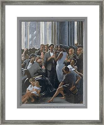 4. Jesus Preaches In The Temple / From The Passion Of Christ - A Gay Vision Framed Print by Douglas Blanchard
