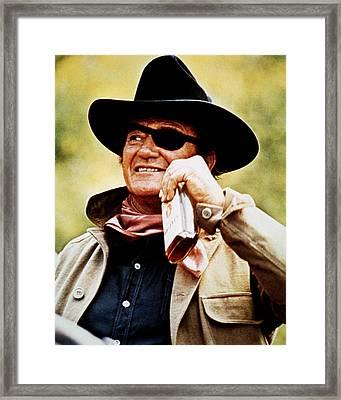 John Wayne In True Grit  Framed Print