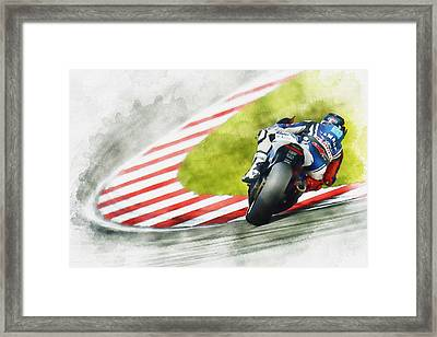 Jorge Lorenzo - Team Yamaha Racing Framed Print