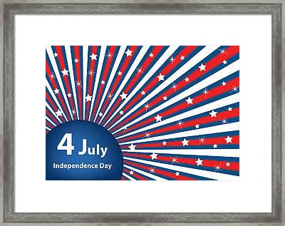4 July Independence Day Background Framed Print