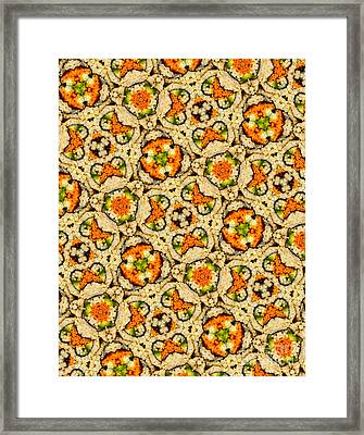 Kaleidoscope Vegetable Sushi Framed Print by Amy Cicconi