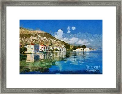 Kastellorizo Island Framed Print by George Atsametakis