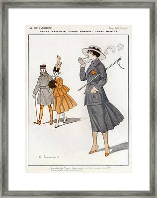 La Vie Parisienne  1916 1910s France Cc Framed Print by The Advertising Archives